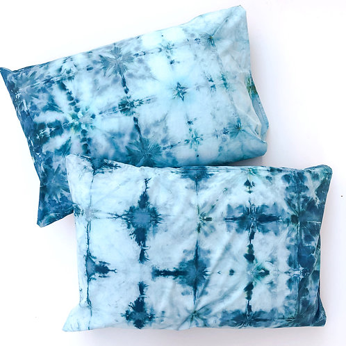 Set of Two: Blue Lagoon Queen Pillowcases