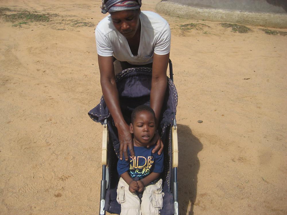 Thabo's pushchair