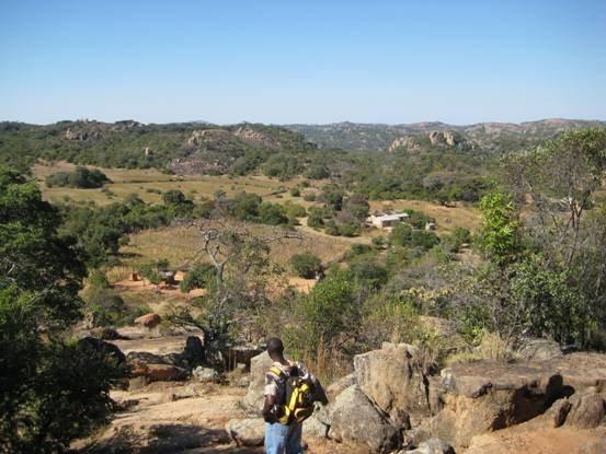 Diamond descending into Gabeni Valley