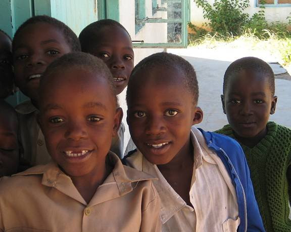 School kids in Ward 9, Matopos - always a smile ready!