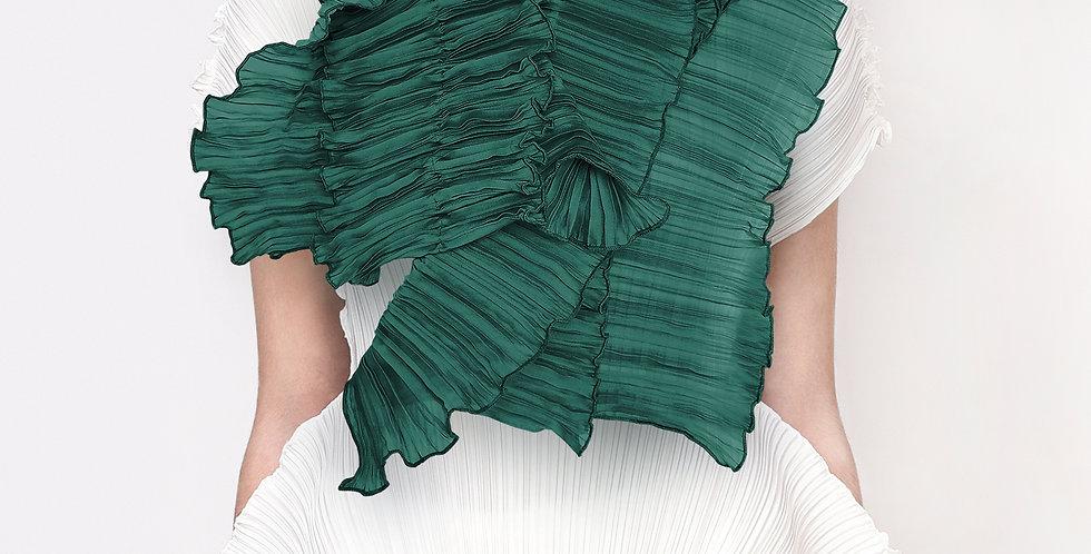 Amaryllis Pleated Scarf. Greens