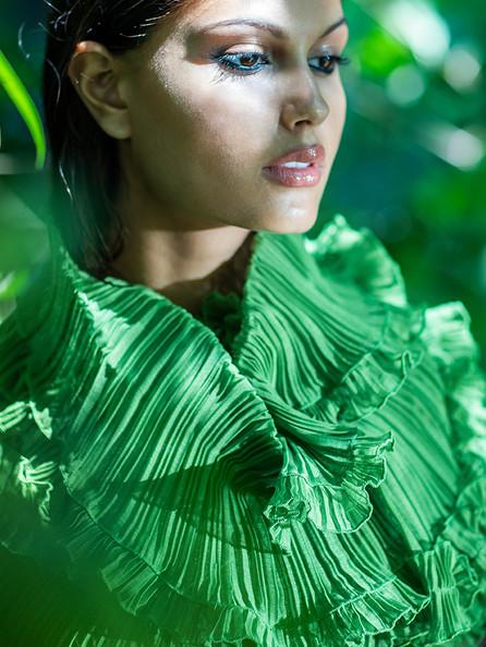 Evergreen Pleated Scarf