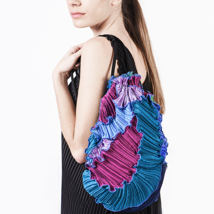 Pleated Patchwork Bag