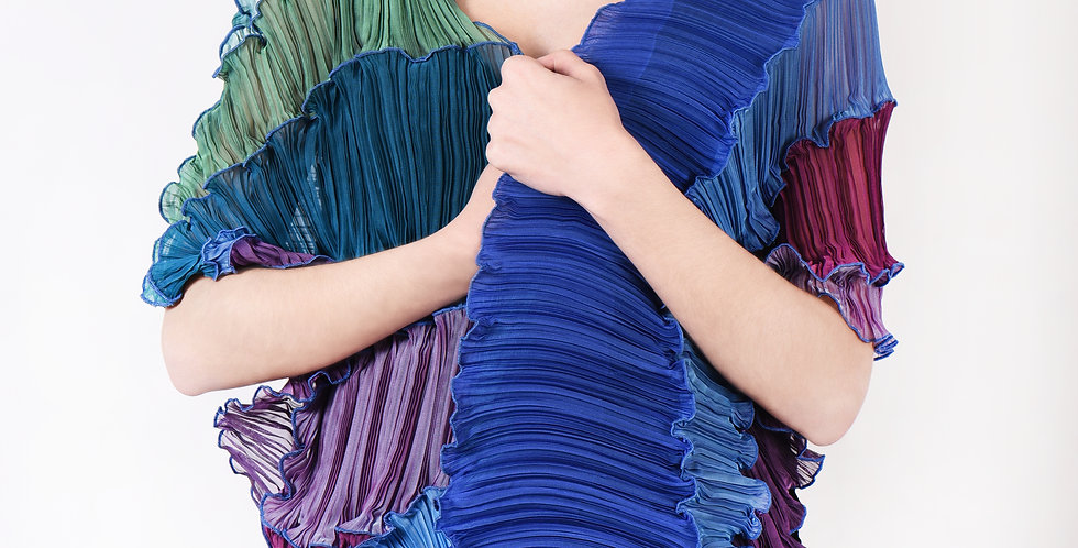Cubist Pleated Scarf