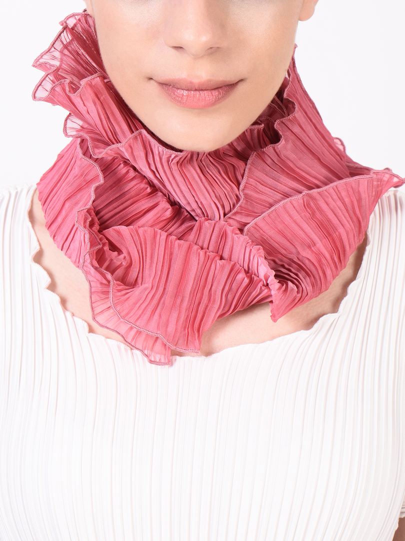 Circular Pleated Scarf