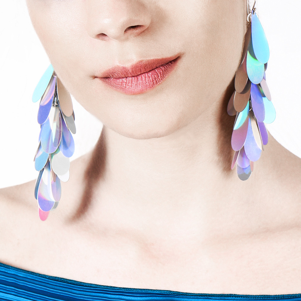 Petal Earrings Disco