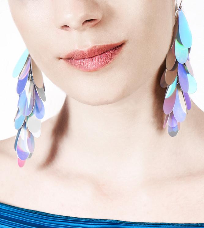 Petal Earrings Disco