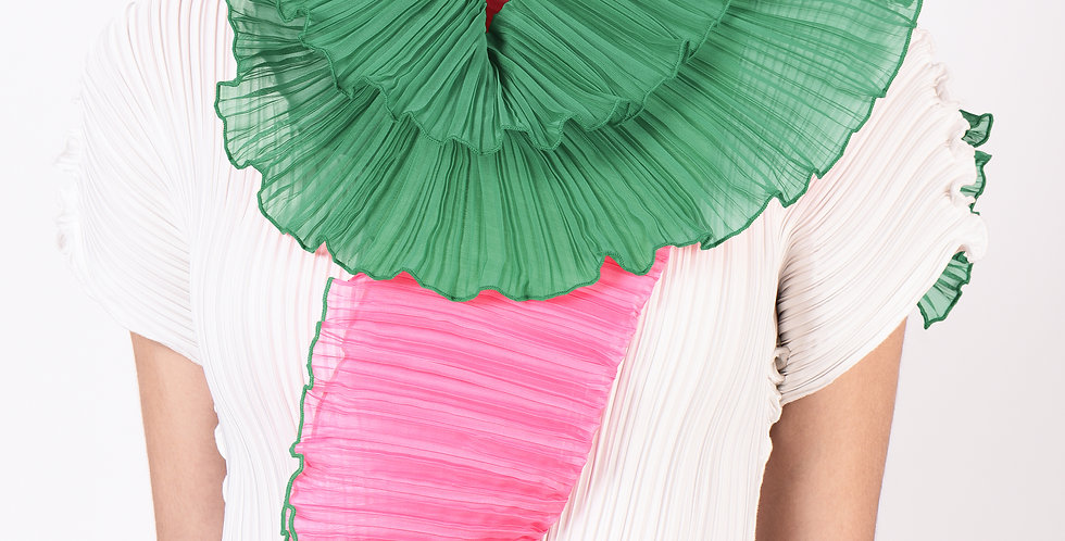 Two-tone pleated scarf 2020 colours