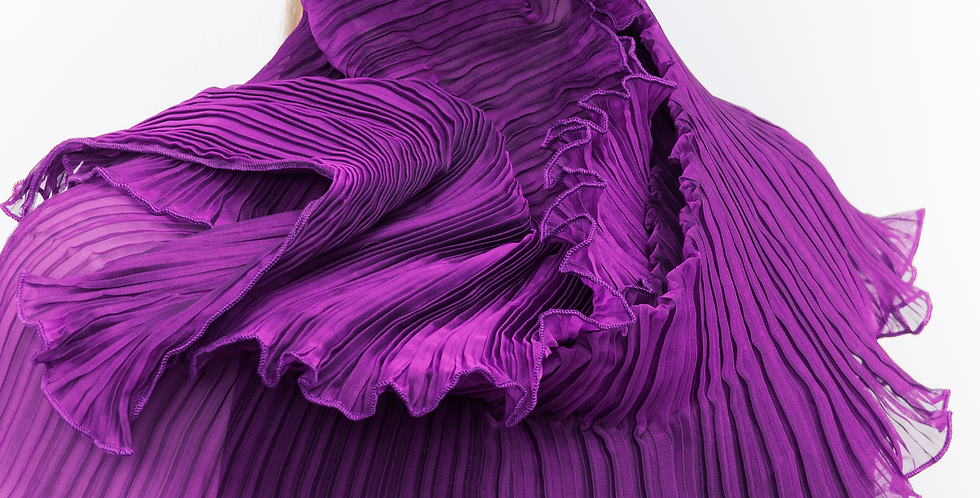 Classic Pleated Scarf. Purples