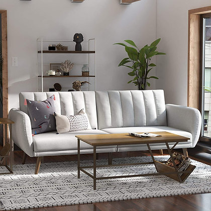 Premium Linen Adjustable Sofa Futon