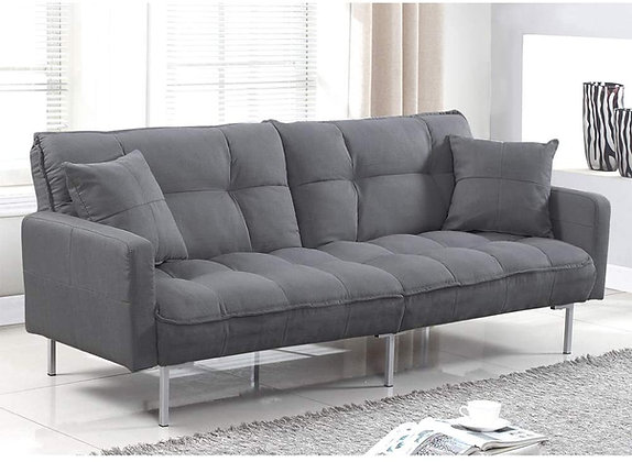 Divano Plush Linen Fabric Splitback Bed Futon