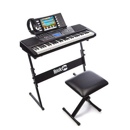RockJam 61-Key Electronic Keyboard Piano Set