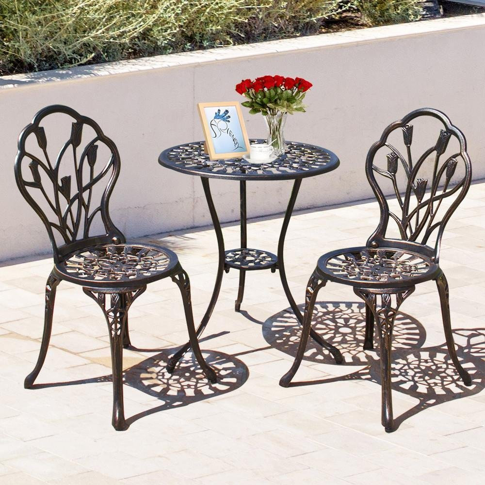 Yaheetech 3 Pieces Bistro Table Set Comfy Niche