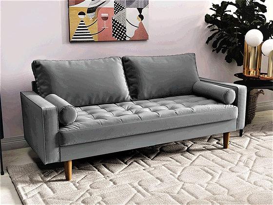 Mid Century Modern Upholstered Tufted Sofa