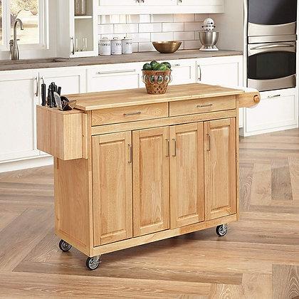 Wood top kitchen Island cart
