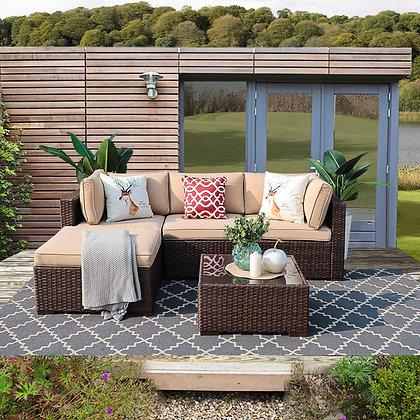 Patiorama Outdoor Sectional Sofa Set (5-Piece Set)