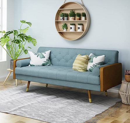 Christopher Knight Mid Century Tufted Fabric Sofa