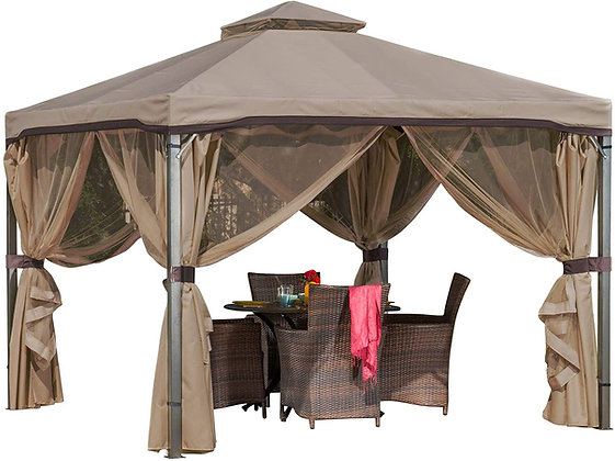 Outdoor Fabric/Steel Gazebo Canopy