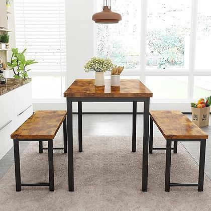 Sleek 3 Pieces Dining Table Set