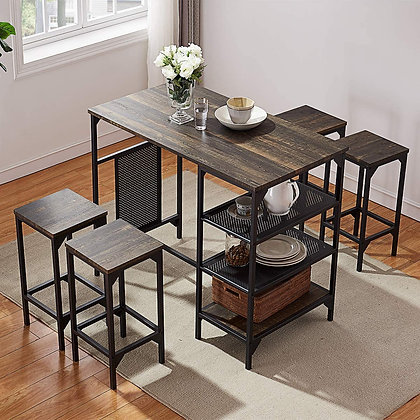 Convenient, Space-Saving 5-Piece Dining Room Table Set