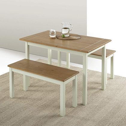 Zinus Pine Wood Elegant Table Set