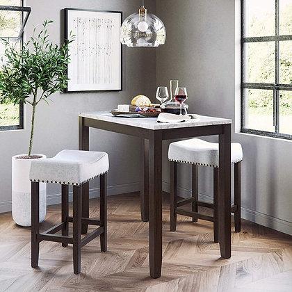Elegant High Marble Table Set