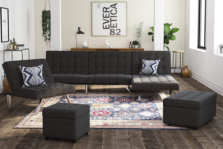 Amazing Dhp Emily Sofa Bed Modern Convertible Couch Inzonedesignstudio Interior Chair Design Inzonedesignstudiocom