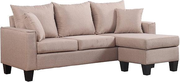 Modern Linen Sectional Sofa