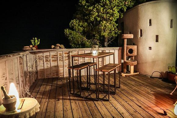 Versatile, Tall, Modern - Wood Kitchen Table Set