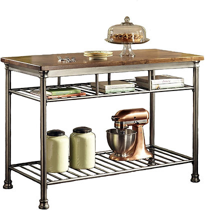 The Orleans Wood-Top Kitchen Island