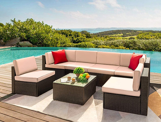 Grand 7 Pieces Outdoor Sectional Patio Set