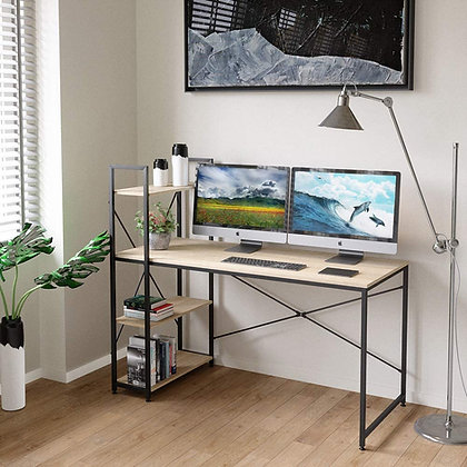 Home Office Study / Computer Desk with Shelves