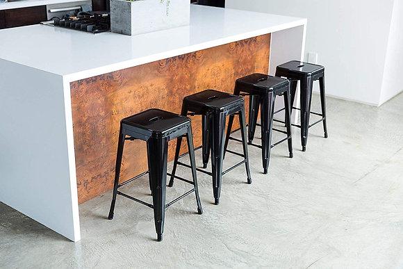 Metal Bar Stool Set