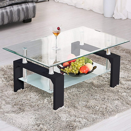 Modern Rectangle Glass Coffee Table