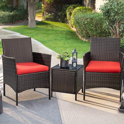Devoko Patio Porch Furniture Sets - Rattan Wicker