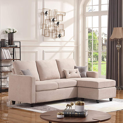 HONBAY Convertible Sectional Sofa Couch (L-Shaped)