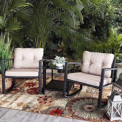 All Weather Elegant Rocking Chair Set