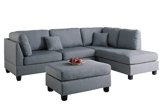 Upholstered L-Shaped Sectional Sofas