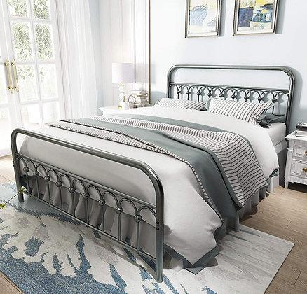 Vintage Sturdy Metal Bed Frame