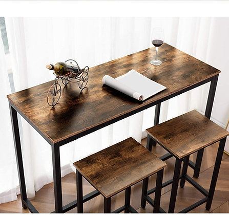 Rustic Kitchen Pub Dining Table