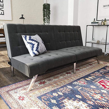 DHP Emily Futon Sofa Bed, Modern Convertible Couch