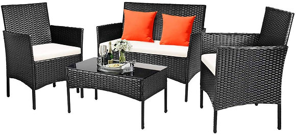 4 Pieces Furniture Set for Outdoor, Patio, Balcony