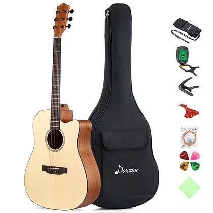 Donner DAG-1C Acoustic Guitar Full Size bundle set
