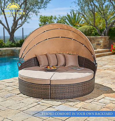 Suncrown Outdoor Furniture Set, Clamshell Seating