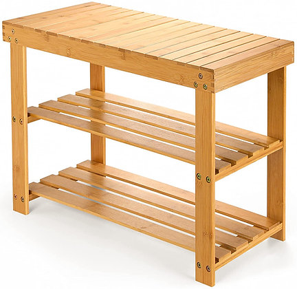 3-Tier Bamboo Shoe Rack Bench