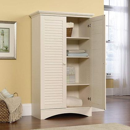 Elegant Storage Cabinet - Antiqued Paint Finish