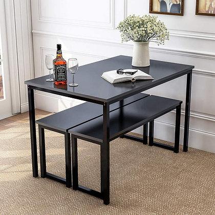 Modern Sleek 3 Pieces Dining Table Set