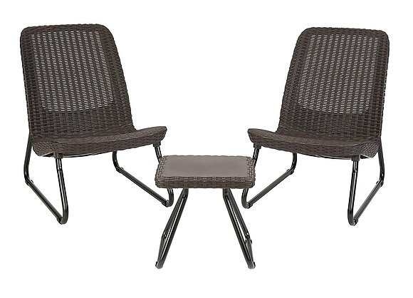 3 Piece All Weather Patio Chair & Table Set