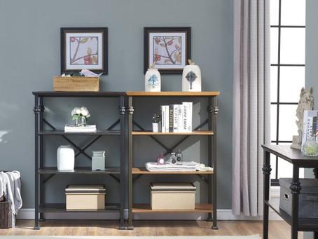 O&K Furniture Industrial 4-Tier Bookshelf