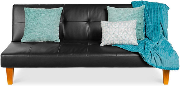 Convertible Lounge Futon Sofa Bed w/ Adjustable Back